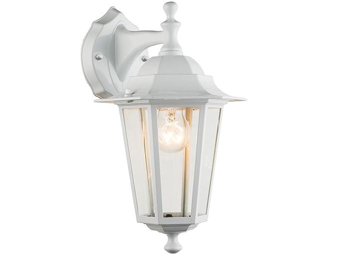 Lampada da parete bianco lampada per esterni lanterna appeso con