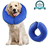 """ONSON Protective Inflatable Cone Collar for Dogs and Cats, Adjustable Soft Pet Recovery E-Collar, Not Block Vision E-Collar (Large(Neck Circumference 12-18""""))"""