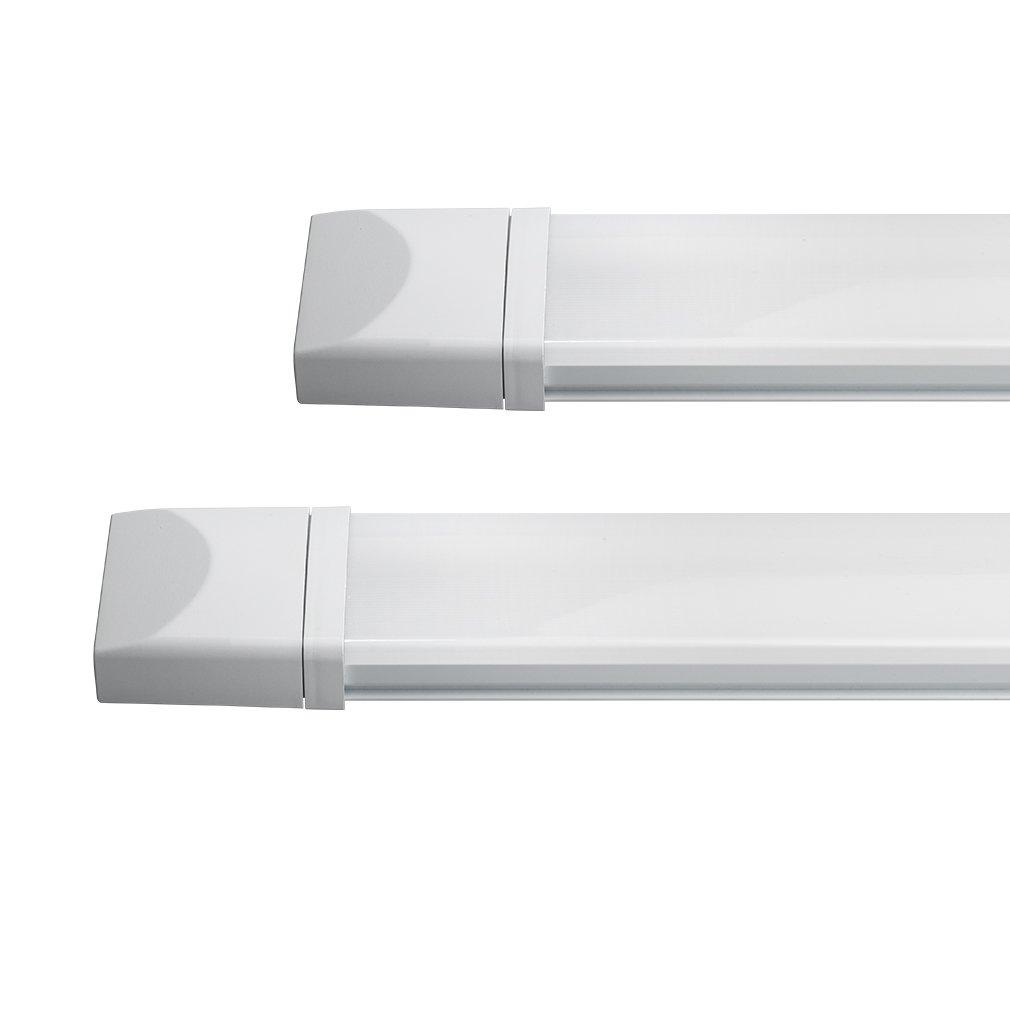 1400LM Permet de relier 20 r/églettes maximum en s/érie Lumi/ère Blanc Neutre 4000-4500K R/églette LED 625mm J/&C/® Lot de 3 Plafonnier LED 18W Eclairage Etanche IP65 Tube Ext/érieur Int/érieur