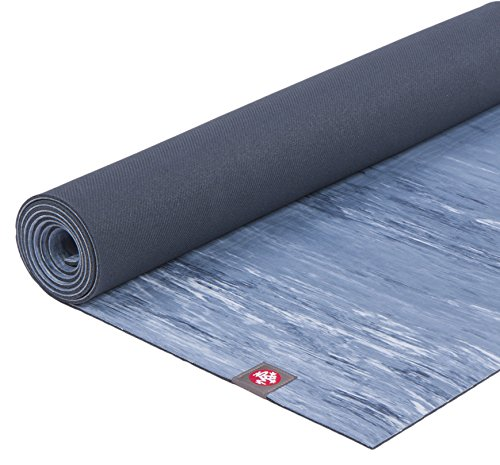 Manduka eKO Lite Yoga Mat - Premium 4mm Thick Mat, Made from Natural Tree Rubber. Ultimate Catch Grip for Superior Traction, Dense Cushioning for Support and Stability in Yoga and Pilates. (Manduka Pro Black Yoga Mat)