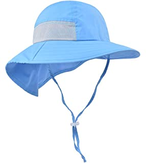 34e29015 Toddler Sun Hat Kids Outdoor Activities UV Protecting Sun Hats with Neck  Flap (2T-