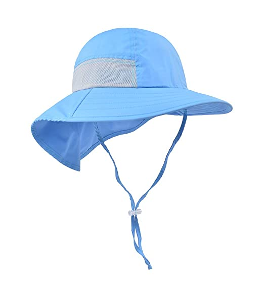 ba89f1b5200 Baby Hiking hat Beach Hats for Kids Outdoor Activities UV Protecting Sun  Hats with Neck Flap