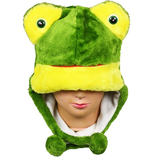 Dr Seuss Dress Up Characters (Frog_(US Seller)Warm Hat Short Flaps Winter Fluffy Plush Gift Beanie)