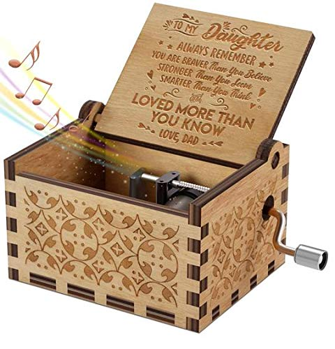 Engraved Music Box - You are My Sunshine, Gift for Daughter from Dad - You Are Stronger Than You Seem, Smarter Than You Think - From Dad (Best Gift For My Dad)