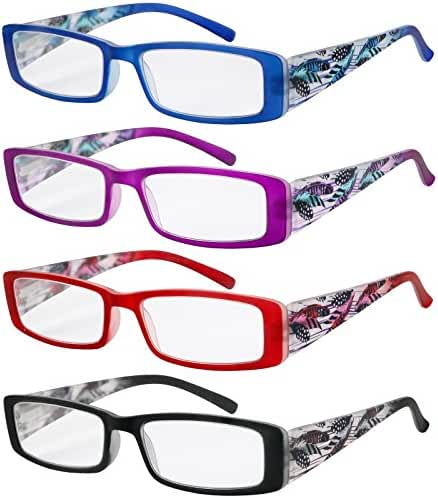 Reading Glasses Women 4 Pack Stylish Design Readers Great Value Quality Glasses for Reading