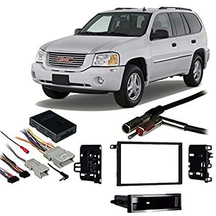 amazon com fits gmc envoy 2002 2009 double din aftermarket harness rh amazon com Boss Car Stereo Wiring Harness Panasonic Car Stereo Wiring
