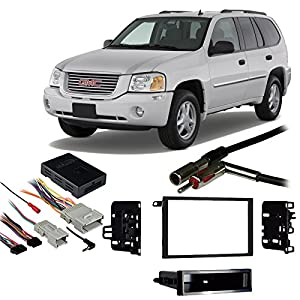 51sXS8iRH1L._SY300_ amazon com fits gmc envoy 2002 2009 double din aftermarket 2002 envoy stereo wiring harness at creativeand.co