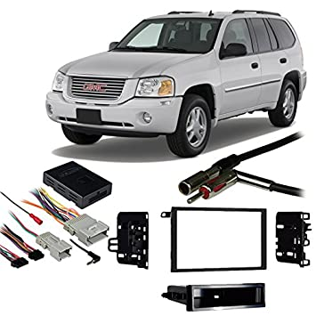 51sXS8iRH1L._SY355_ amazon com fits gmc envoy 2002 2009 double din aftermarket 2005 gmc envoy stereo wiring harness at gsmportal.co