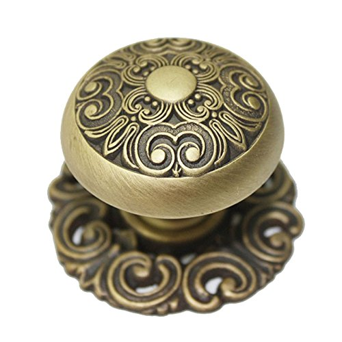Cabinet Drawer Knobs Matt (JC Handle 40mm Large Cabinet Drawer knob Pull Home Kitchen Handle Vintage Copper)