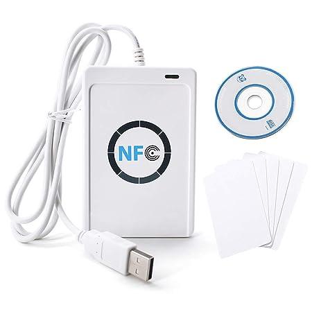TOPINCN Lector Tarjeta ID Papel RFID NFC ACR122U ISO14443 A/B ...