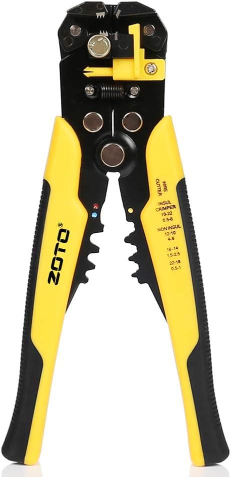 Self-Adjusting Cable Wire Striper Cutter Stripper Crimper Pliers Electric Tool
