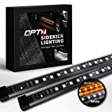 """Automotive : OPT7 2pc 60"""" Side Kick Running Board LED Strips w/Amber Turn Signal, DRL, and White Courtesy Lights"""