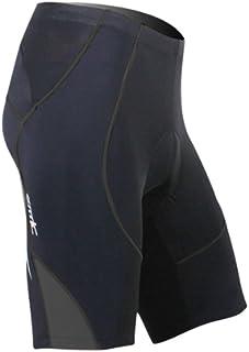 SANTIC Cycling Men's Shorts Biking Bicycle Bike Pants Half Pants 4D COOLMAX Padded Black/Gray L