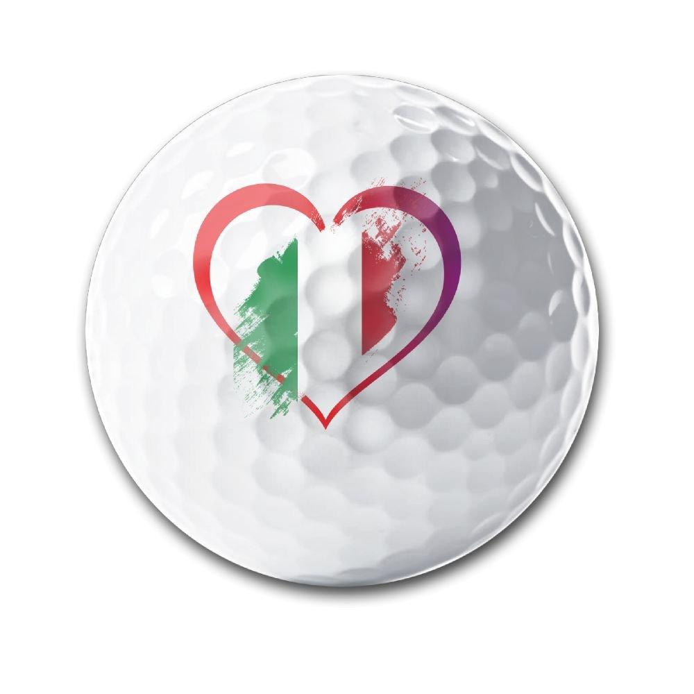 I Love Italy Heart Deluxe Printing Golf Balls