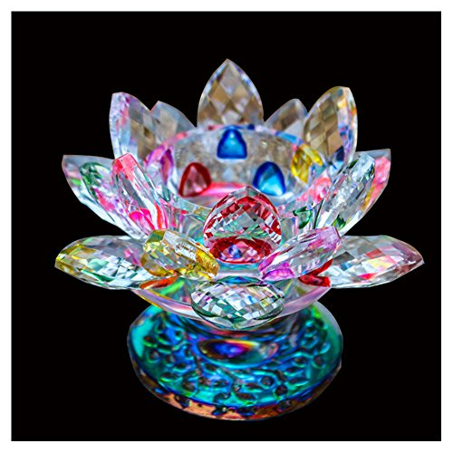 - Khalee Crystal Lotus Flower Tealight Candle Holder Centerpieces Diameter 4.5
