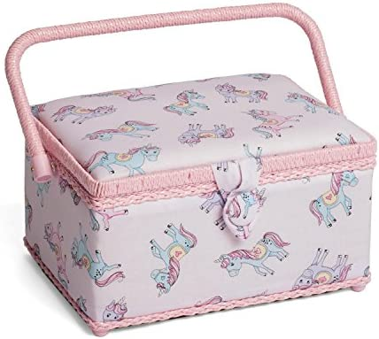 HobbyGift Classic Medium Sewing Box Unicorn