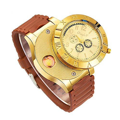 New Military USB Lighter Watch Men