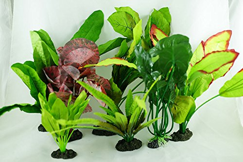 Aquarium Plants for Plastic Tank Silk COMBO 4 by Given-Arts