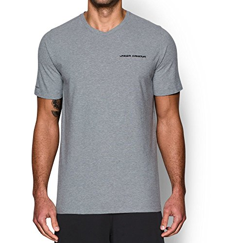 Under Armour Mens Charged Cotton T-Shirt True Gray Heather (025)/Black, Medium