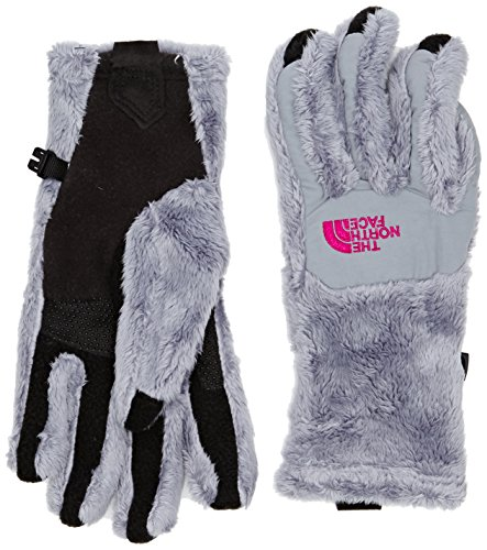 The North Face Women's Denali Thermal Etip? Glove Mid Grey/Luminous Pink LG ()