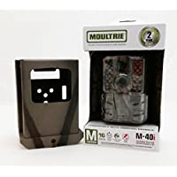 Moultrie M-40i No-Glow IR Trail Camera and Security Box by Camlockbox