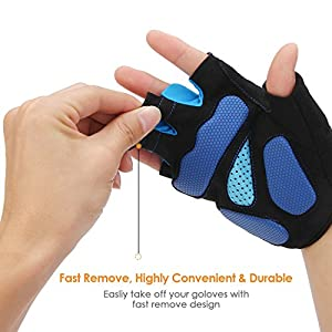 INTEY Bike Gloves Touchscreen Cycling Gloves Full/ Half Finger Bicycle Gloves for Man & Women 2 Pair