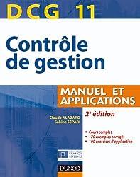 DCG 11 - Contrôle de gestion - 2e édition - Manuel et applications