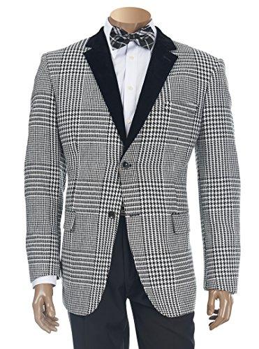 Houndstooth Blazer Jacket - 3