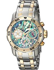 Invicta Womens Pro Diver Quartz Stainless Steel Casual Watch, Color:Silver-Toned (Model: 24833)