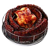 BBQ Guru Rib Rings - Rib Rack and Chicken Roaster for Weber, Green Egg, Kamado Joe, Vision, Grill Dome, Primo Grills and Indoor Ovens