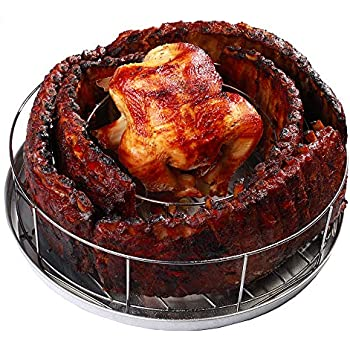 Amazon Com Bbq Guru Rib Rings Rib Rack And Chicken