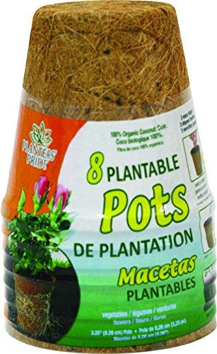 - Akro-Mils Planters Pride RZR0300 8-Pack 3-Inch Fiber Grow Pot