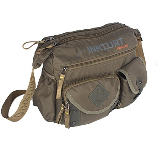 Innturt Nylon Messenger Bag Shoulder Sling Bag Army Green by Innturt (Image #1)