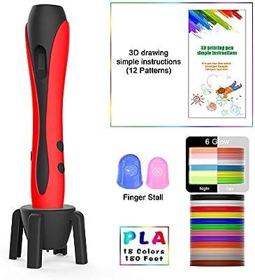 MIMI KING 3D Pluma 18 Colores Filamento Recambios, Pantalla LCD ...