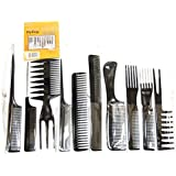 Magic 10 Piece Professional Styling Comb Set
