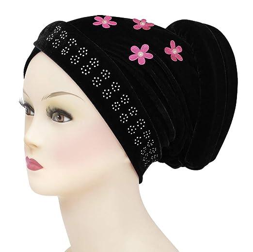 Amazon.com: Middle Eastern Mall Velvet Venetian Turban Hijab Cap for Women (Black): Clothing