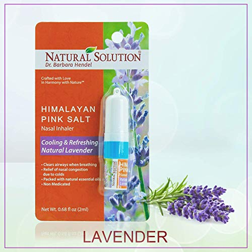 LAVENDER NETI INHALER Sinus & Lung Relief. HIMALAYAN SALT AIR! Respiratory Wellness from Natural Solution
