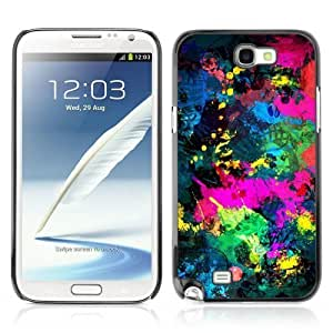 Designer Depo Hard Protection Case for Samsung Galaxy Note 2 N7100 / Cool Abstract Color Splash