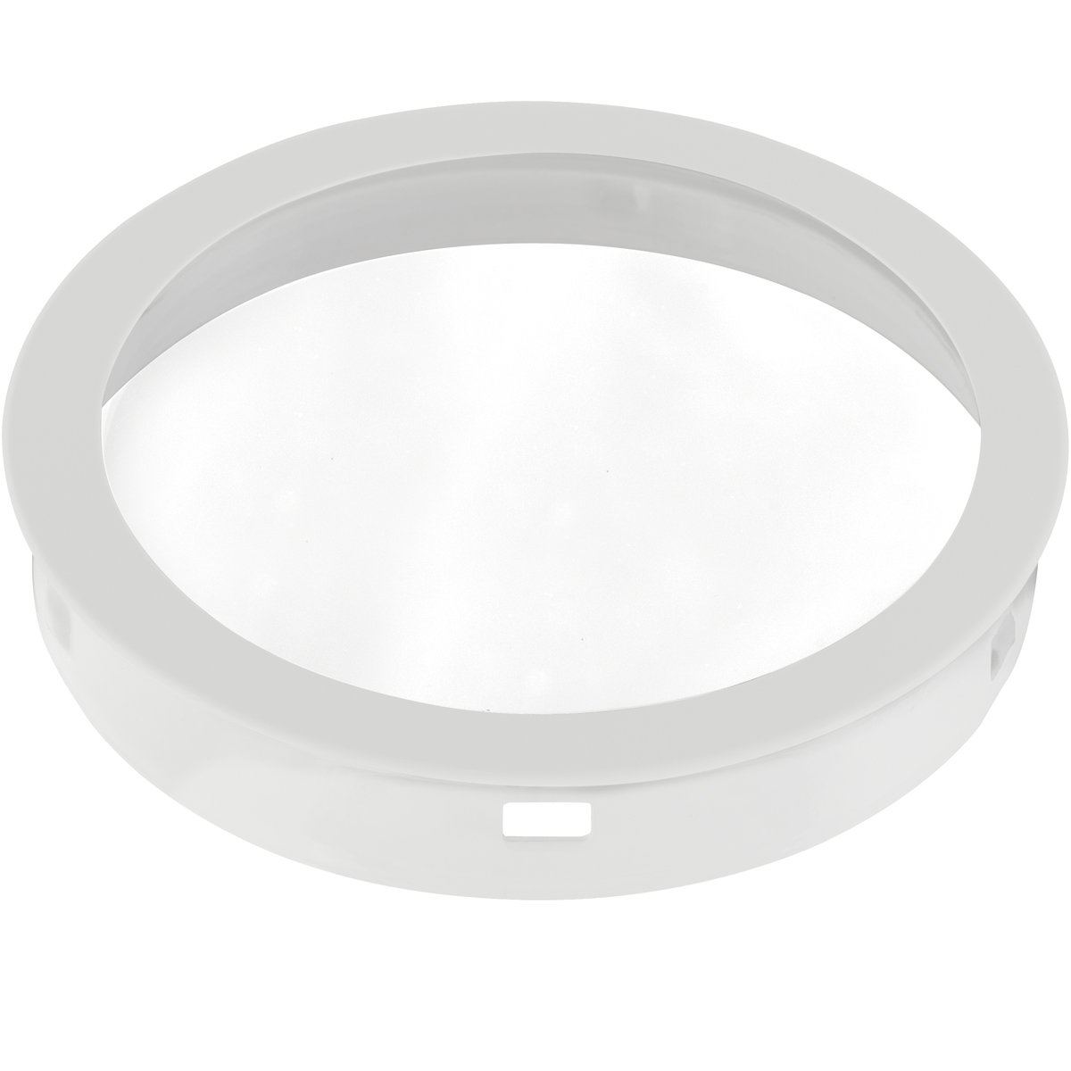Black Progress Lighting P8799-31 Top Cover Lenses For P5675 Cylinder Adapts Up//Down Fixtures For Wet Location Use Heat and Shatter-Resistant Clear Tempered Lens with Black Trim