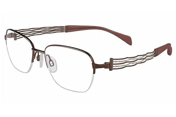 42626e348 Image Unavailable. Image not available for. Color: Charmant Line Art  Eyeglasses XL/2084 BR Brown Titanium Optical Frame 51mm