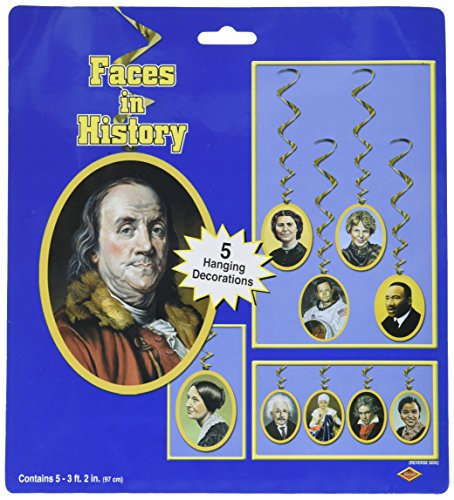 [Faces In History Whirls   (5/Pkg)] (Famous People Costumes For Halloween)