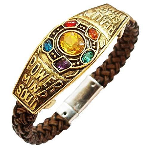 Joyfunny Thanos Stones Bracelet Movie Inspired Jewelry Party Halloween Collection]()