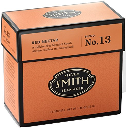 Smith Teamaker Red Nectar Blend No. 13 (Large Cut Herbal Infusion), 1.48 oz, 15 Bags