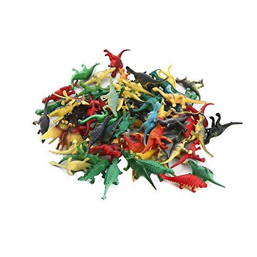 FunsLane Mini Dinosaurs Plastic Assorted Dinosaurs Set, 72