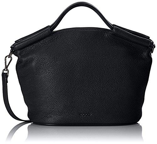 Ecco Sp 2 Medium Doctor's Bag, Sacs Portés Main Femme, Noir (Black), 14x23x34 cm