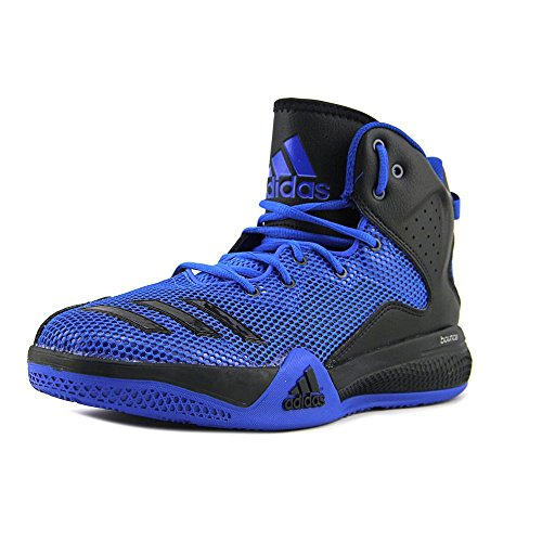 adidas Mens DT Bball Mid Blue/Core Black Collegiate Royal Ankle-High Fabric Basketball Shoe - 9M