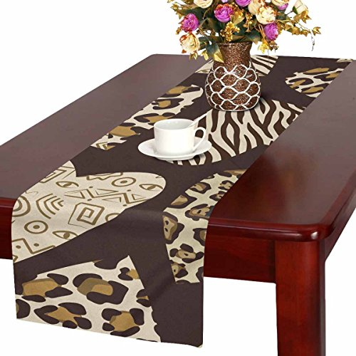 InterestPrint Table Runner 16in72in print with hearts with