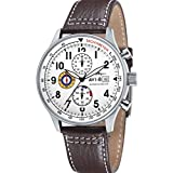 "AVI-8 Men's AV-4011-01 ""Hawker Hurricane"" Stainless Steel Watch with Leather Band"