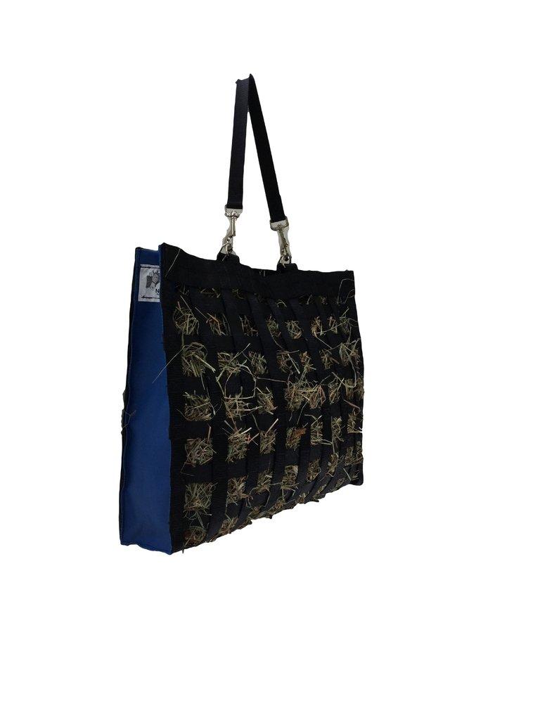 The Original NibbleNet Picnic w  1.5  Slow Feed Hay Bag by Thin Air Canvas, Inc. = bluee