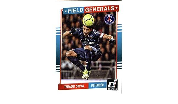 Amazon.com: 2015 Donruss Field Generals #14 Thiago Silva Paris Saint-Germain Soccer Card in Protective Screwdown Display Case: Collectibles & Fine Art